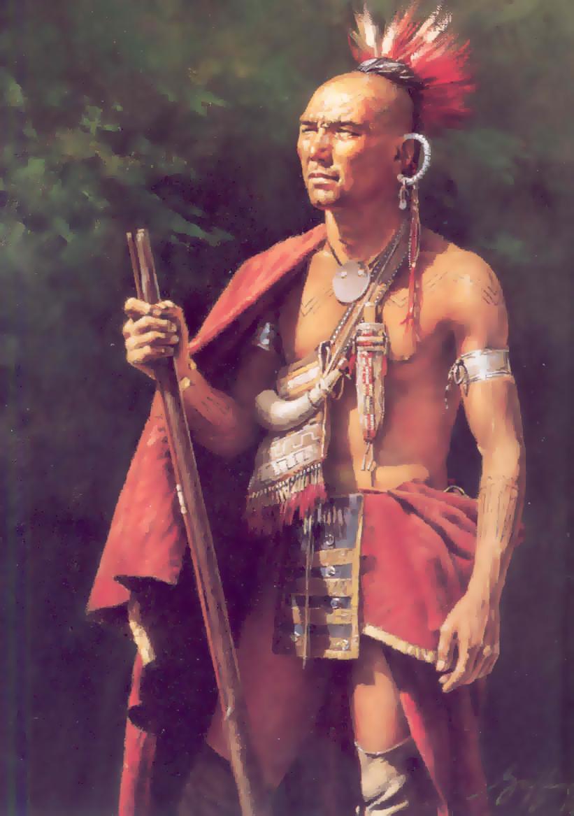 Картинка индейца делавара
