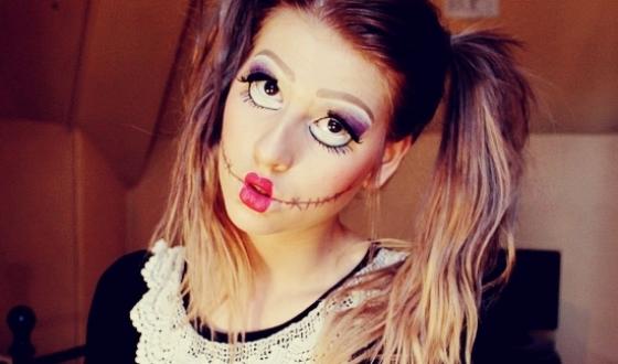 макияж куклы на хэллоуин