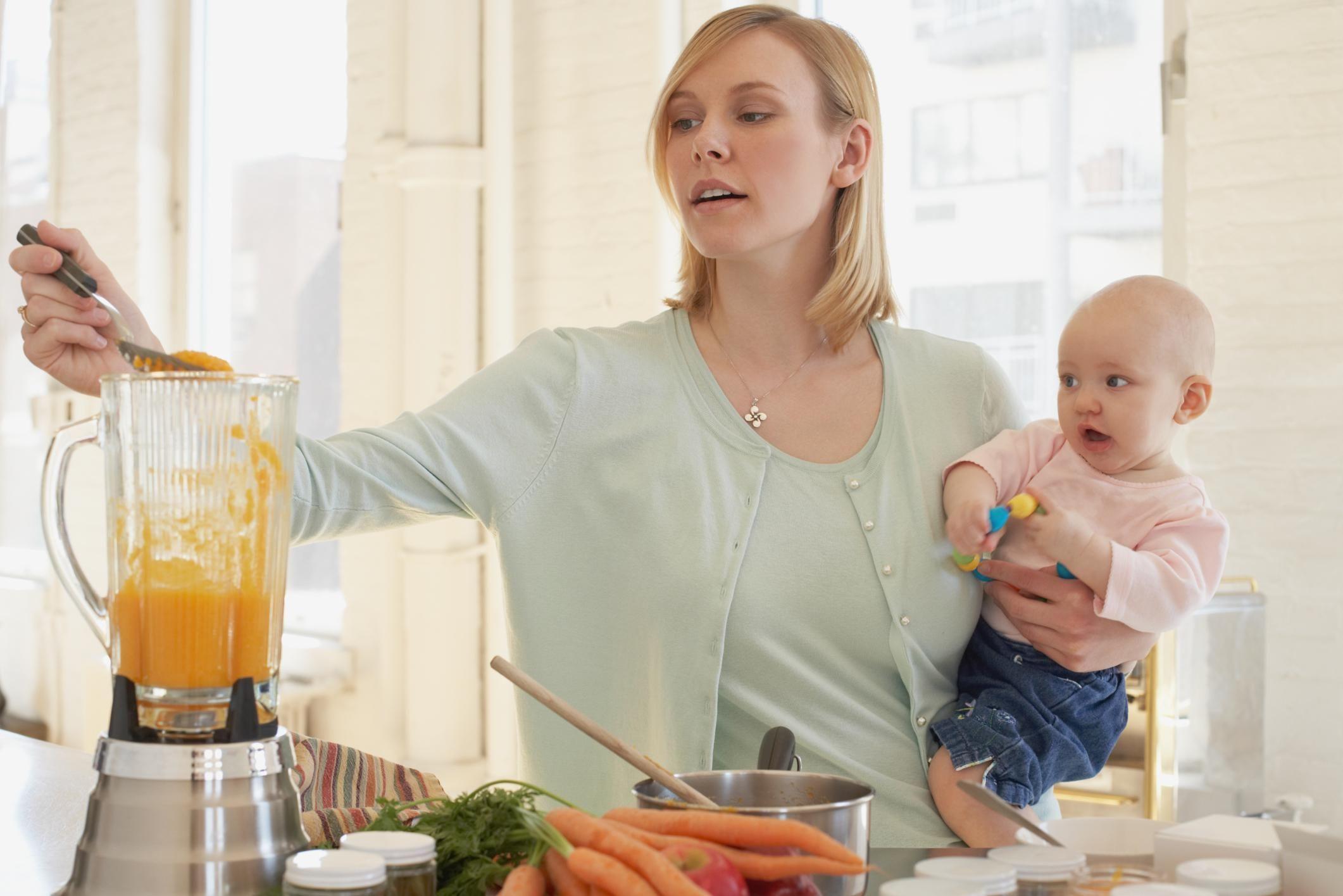 Как успевать готовить с грудным ребенком