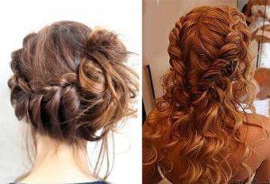 коса с кудрями