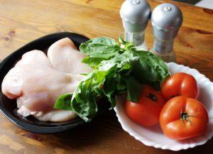 Курица с томатом и базиликом