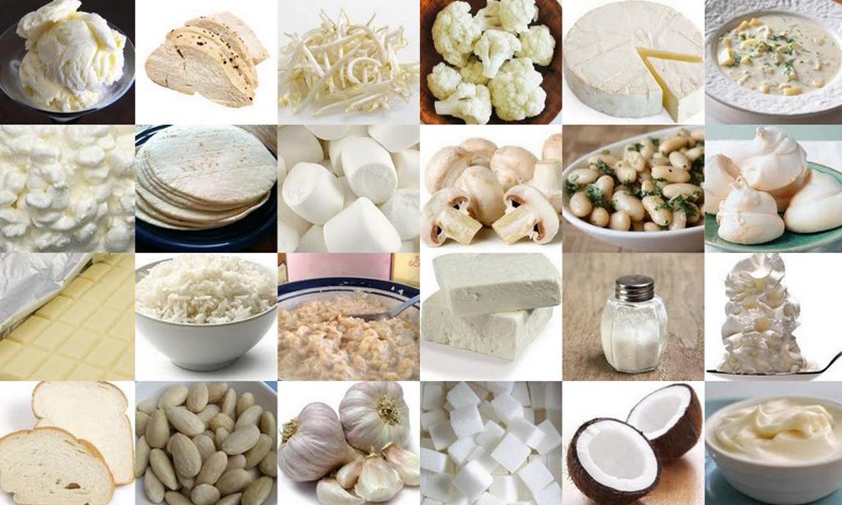 белая диета меню