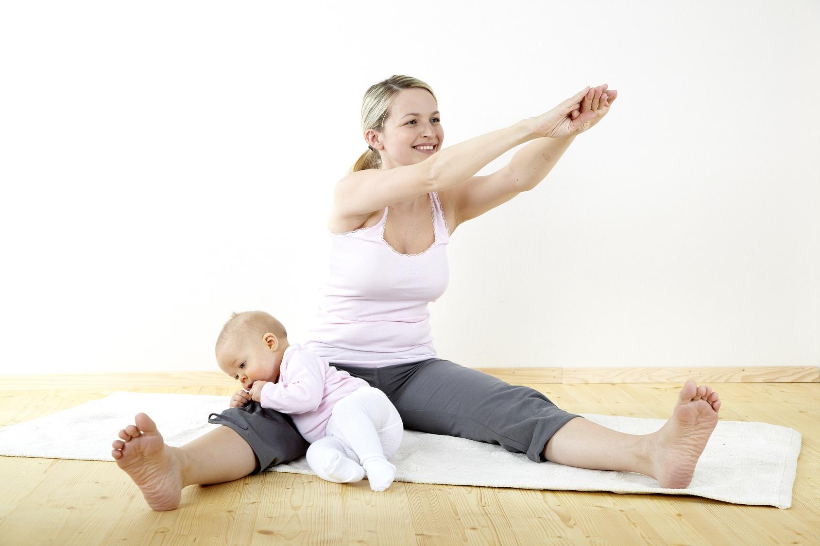 Занятия фитнесом с ребенком